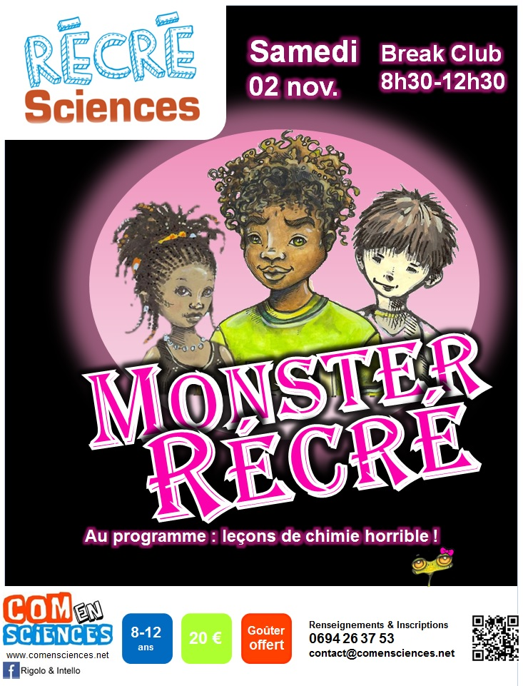 Affichette Monster Récré